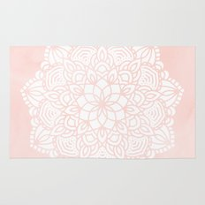 Mandala Mermaid Sea Pink by Nature Magick Rug