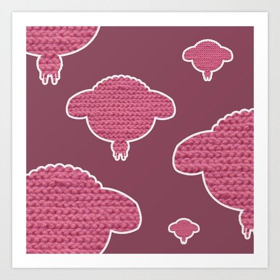 Wooly Sheep - 3 Art Print