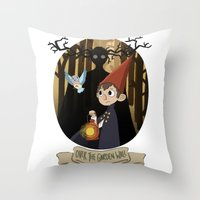 over the garden wall Throw Pillows featuring Over The Garden Wall by Lockholmes