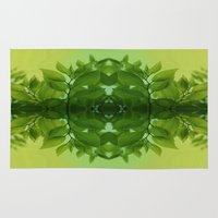 leaf Area & Throw Rugs featuring Leaf by Cs025