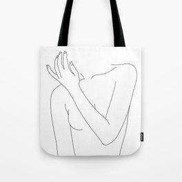 Woman's body line drawing - Fad Tote Bag