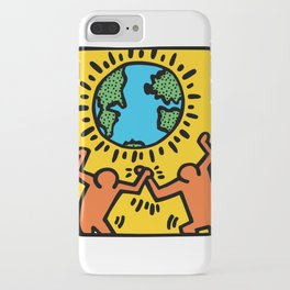 Homage to Keith Haring iPhone Case