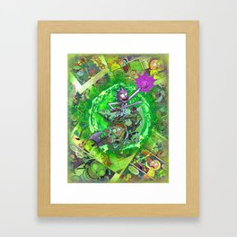 Rick & M - Dungeons and Dragons Comic Collage Portal Comic Book Art Framed Art Print