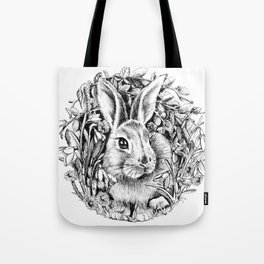 """Spring rabbit. From the series """"Seasons"""" Tote Bag"""