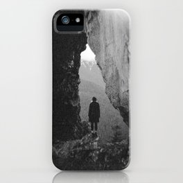 Through the Looking Glass - Holga Black and White Photograph in the Pacific Northwest iPhone Case