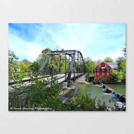 Bridge at War Eagle Mills Canvas Print