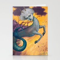 capricorn Stationery Cards featuring Capricorn by Artist Andrea