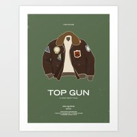 top gun Art Prints featuring Dress The Part - Top Gun by Moxy Creative House