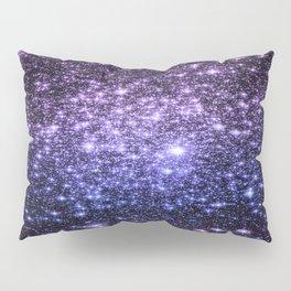 Galaxy Sparkle Stars Purple Periwinkle Blue Pillow Sham
