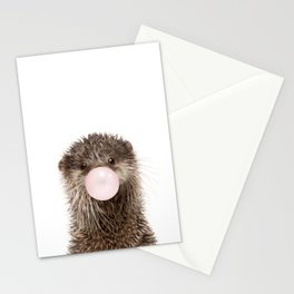 Bubble Gum Baby Otter Stationery Cards