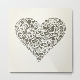 Art heart Metal Print