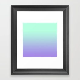 MINT/PURPLE FADE Framed Art Print
