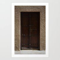 arabic Art Prints featuring Arabic Door by Ashley-liv