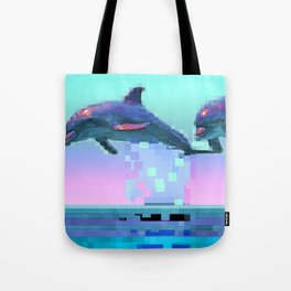 Dolphin Jitter Tote Bag