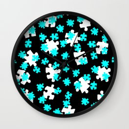 DT PUZZLE SCATTER 4 Wall Clock