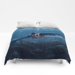 Shark in a Shirt Comforters