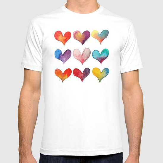color of hearts T-shirt
