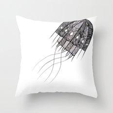pattern jellyfish Throw Pillow