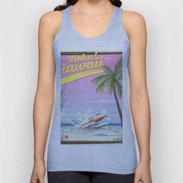 Aloha! Hawaii vintage travel poster. Unisex Tank Top