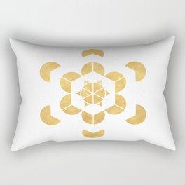 HEXAHEDRON CUBE sacred geometry Rectangular Pillow