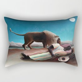 Henri Rousseau The Sleeping Gypsy Rectangular Pillow