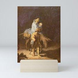 Rembrandt - The Flight into Egypt Mini Art Print
