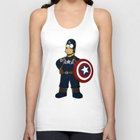 simpson Tank Tops featuring Captain Simpson by Betmac