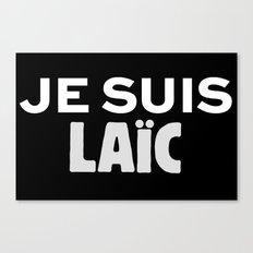 Je Suis Laïc Canvas Print