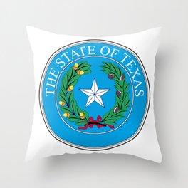Texas State Seal Throw Pillow