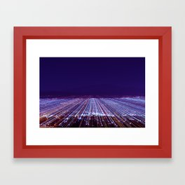 Zoom Burst Framed Art Print