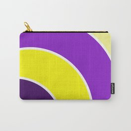 Purple & Gold Circles Carry-All Pouch