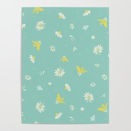 Blooms in the Wind Poster