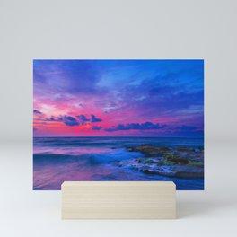 Paradise Sunset Island Mini Art Print