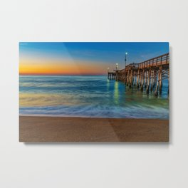 Sunrise Colors at Balboa Pier Metal Print