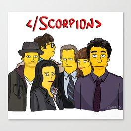 Scorpion Simpsonized Canvas Print