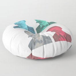 Friedrich Nietzsche Floor Pillow