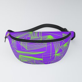 Polygon collection - green Fanny Pack