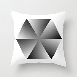 Metal Hexagon Throw Pillow