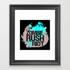 Zombie Rush: Riot Framed Art Print