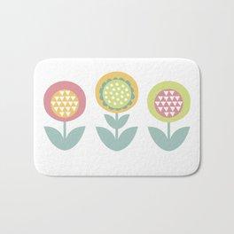 Geometric flower print  Bath Mat
