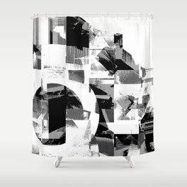 Circle Glitch Shower Curtain
