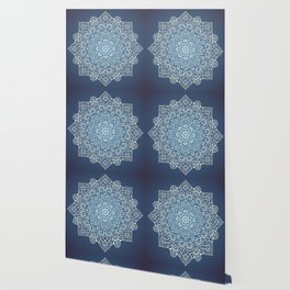 Mandala dark blue Wallpaper