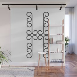 """Letter """"H"""" in beautiful design Fashion Modern Style Wall Mural"""