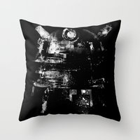 dalek Throw Pillows featuring Dalek by zerobriant