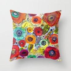 Mixed Garden Throw Pillow