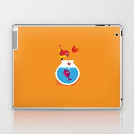 A Fish May Love a Bird but Where Would They Live?  Laptop & iPad Skin