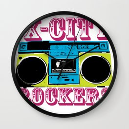 X-CITY ROCKERS Wall Clock