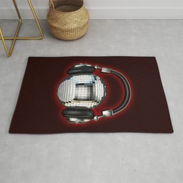 Headphone disco ball Rug