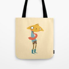 Cat with Tie Tote Bag