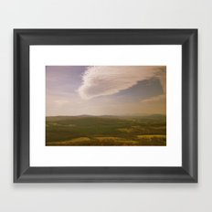 Mountains and Valleys Framed Art Print